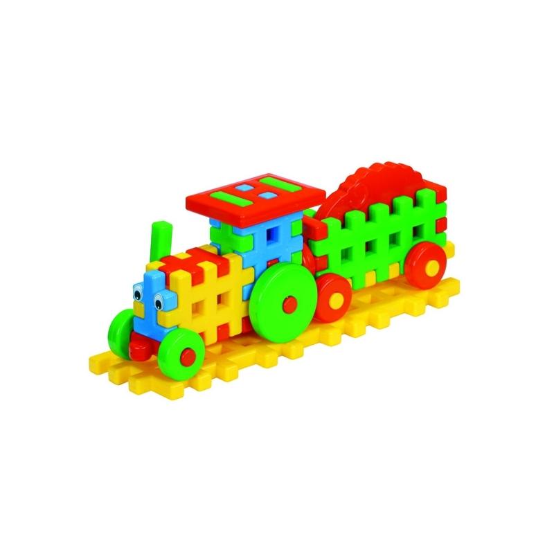 Cuburi constructii, 38x10,3x15 cm, Tractor - Tupiko