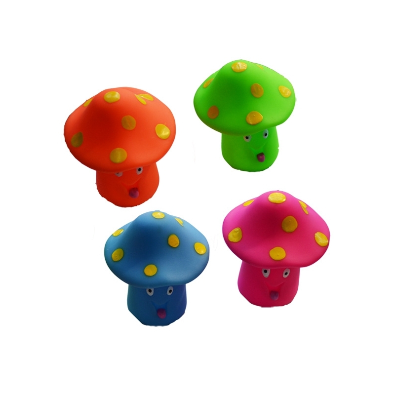 Jucarii chitaitoare - ciuperci, 4 buc/set