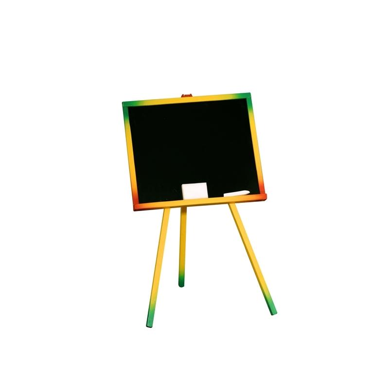 Tablita lemn, neagra/ 82 cm + suport color + accesorii - Tupiko