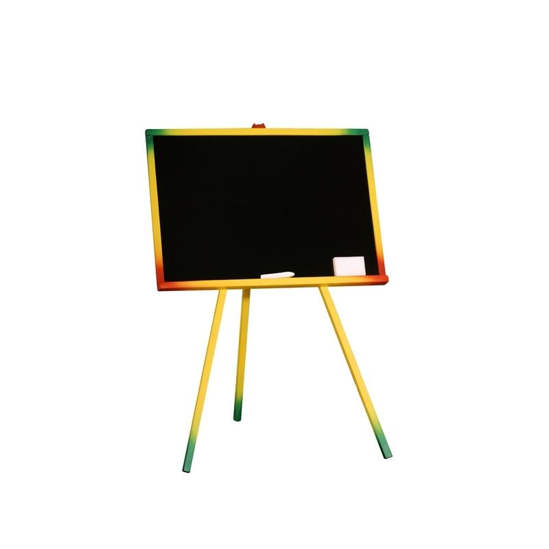 Tablita de lemn, neagra/95 cm + suport color + accesorii - Tupiko