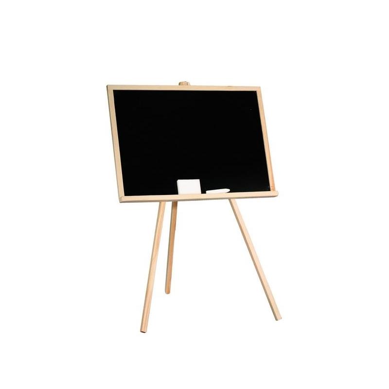 Tablita de lemn, neagra/ 96 cm + suport + accesorii - Tupiko