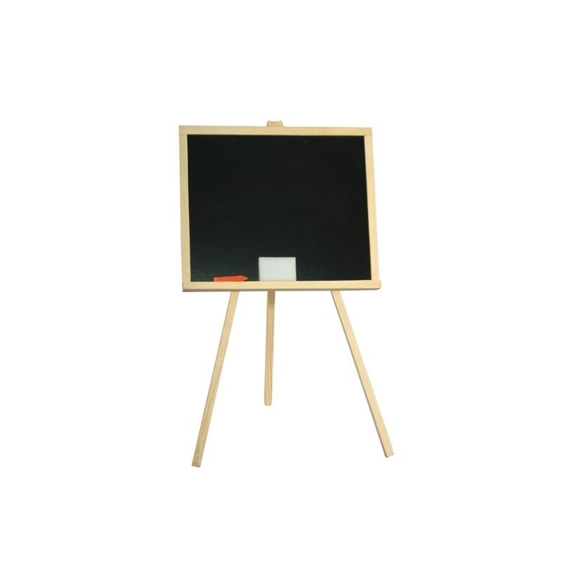 Tablita de lemn, neagra/ 84 cm + suport + accesorii - Tupiko