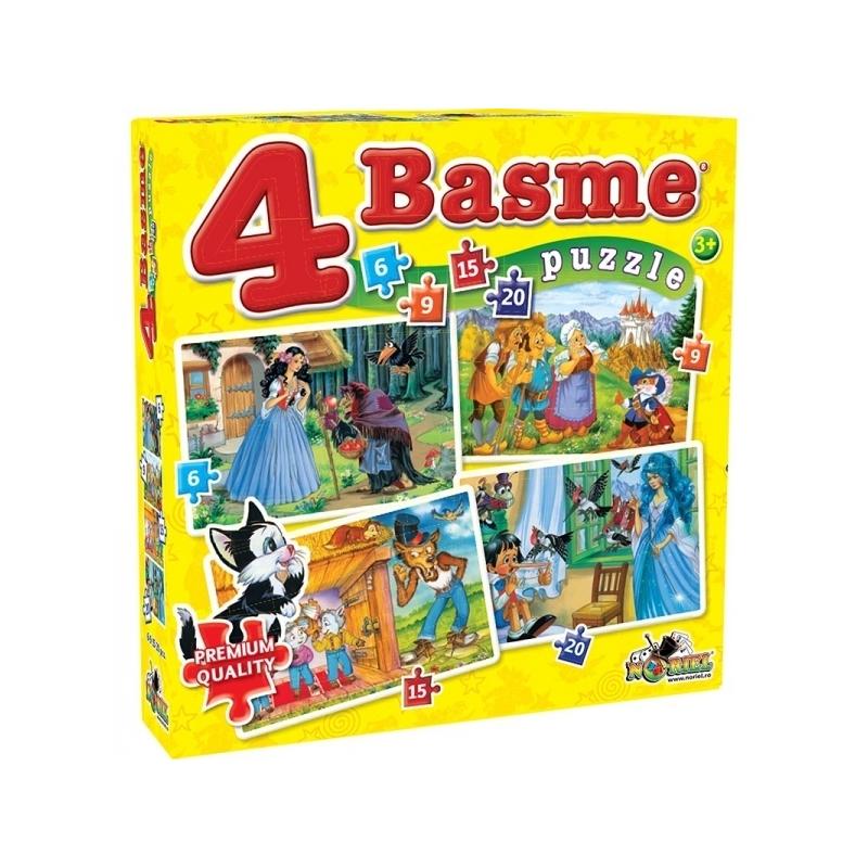 Puzzle 4 Basme Mici 6, 9, 15, 20