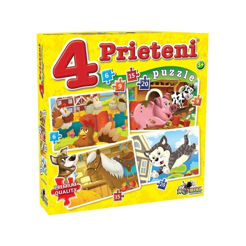 Puzzle 4 Prieteni Mici 6, 9, 15, 20