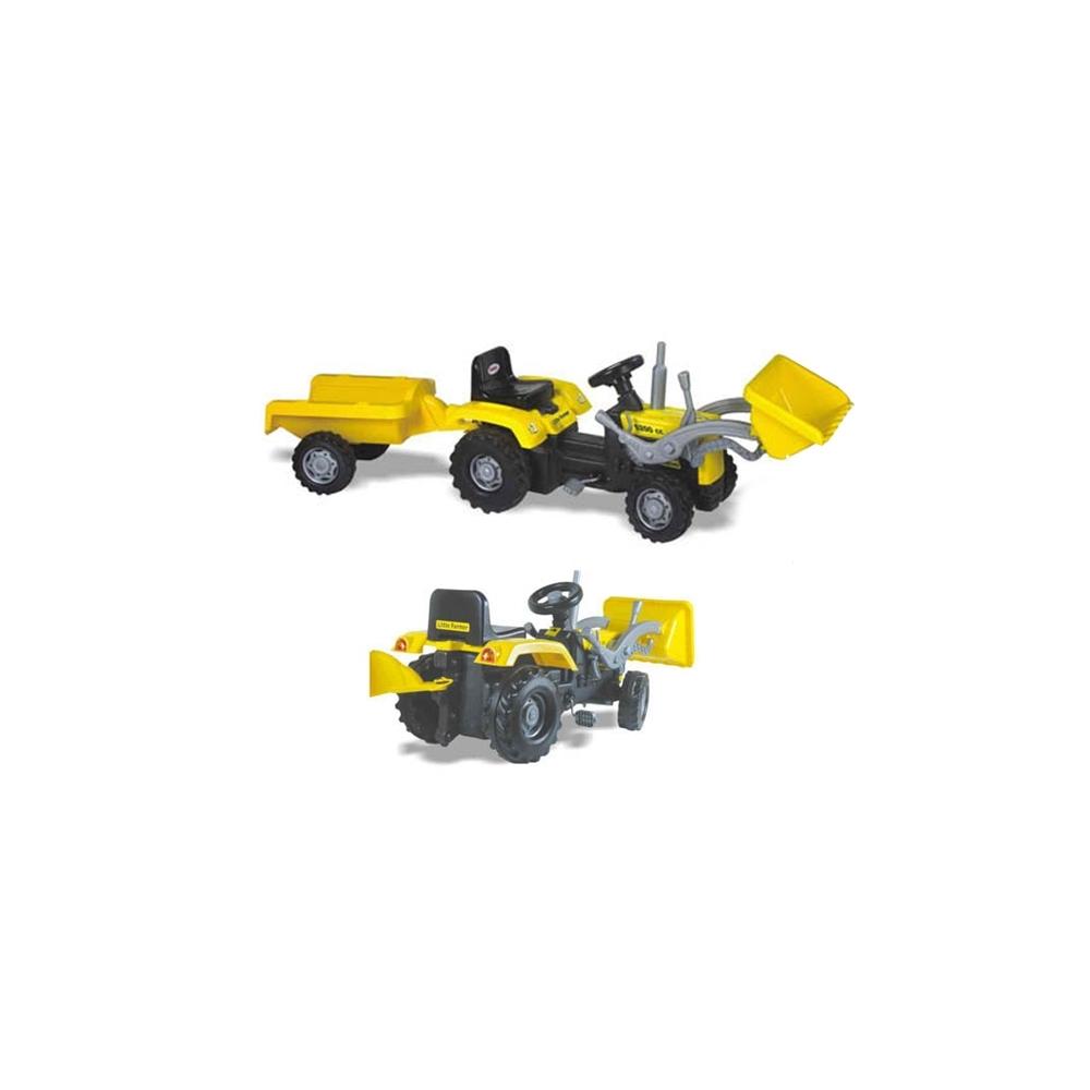 Tractor excavator+pedale,remorca,183x54x45cm-Dolu