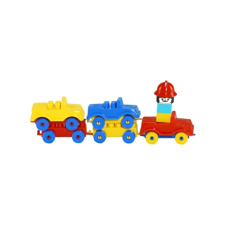 Trenulet cu masinute si figurina, 51x6x10,5 cm - Tupiko