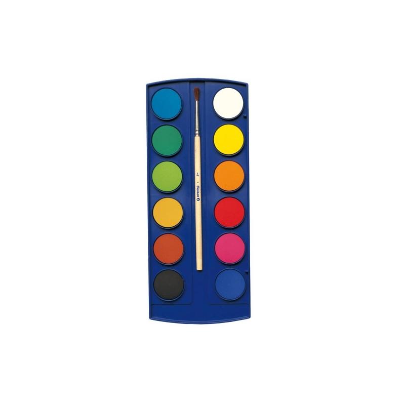 Acuarele 11 culori F355+ 1 pastila alba pensula
