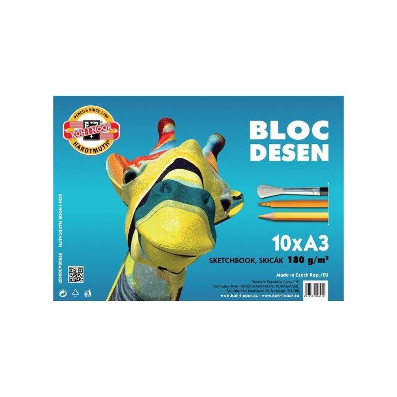Bloc desen A3 10 file 180 g - Koh-I-Noor