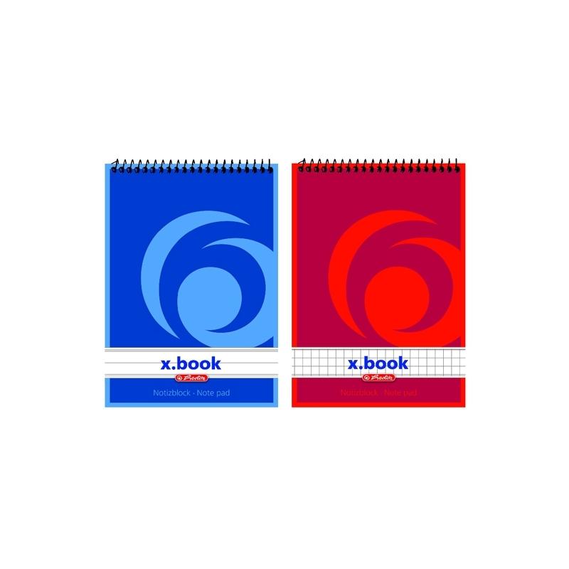Bloc notes A6 50f spirala X-BOOK DR