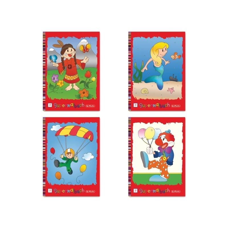 Carte de colorat A4 128 file diverse modele
