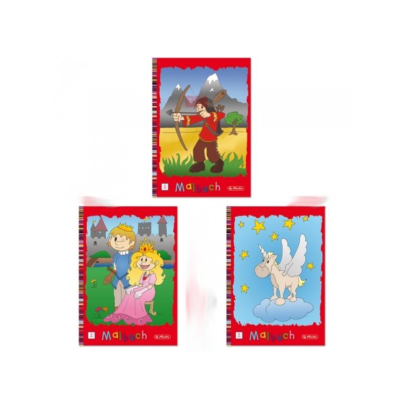 Carte de colorat A4 24 file diverse modele