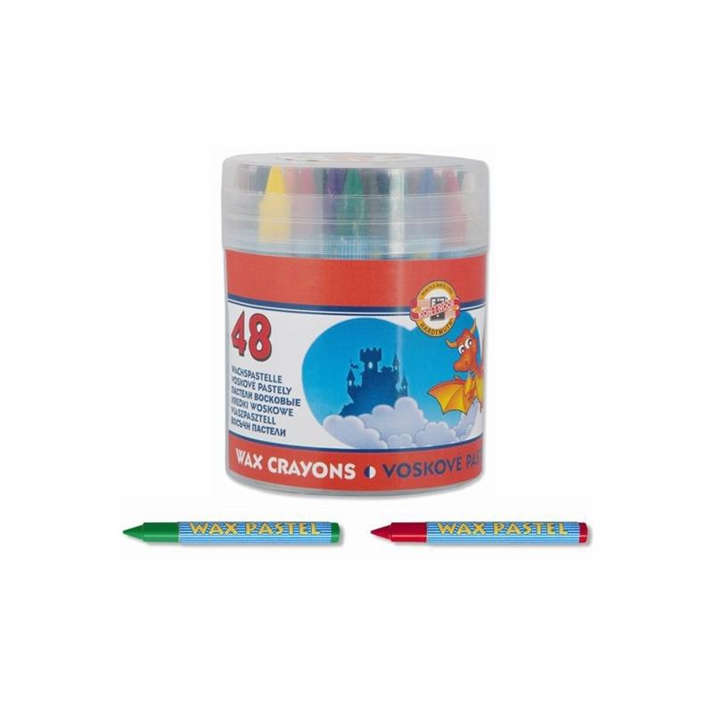 Creioane cerate rotunde+cilindru depozitare 48|set - Koh-I-Noor