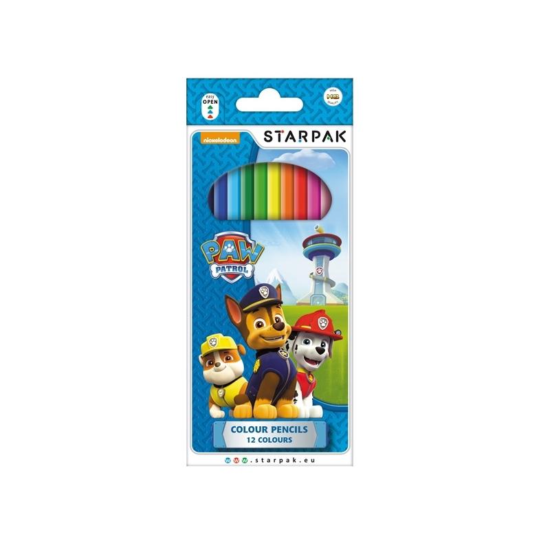 Creioane color - Paw Patrol 12 culori|set - STARPAK