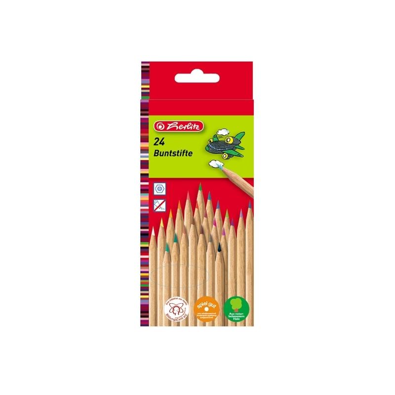 Creioane color natur 1|1 set 24 bucati