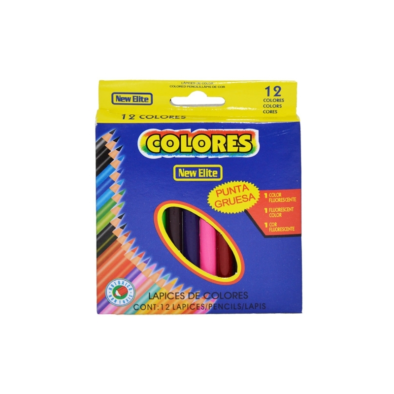 Creioane color New Elite 1 2 12 buc cutie