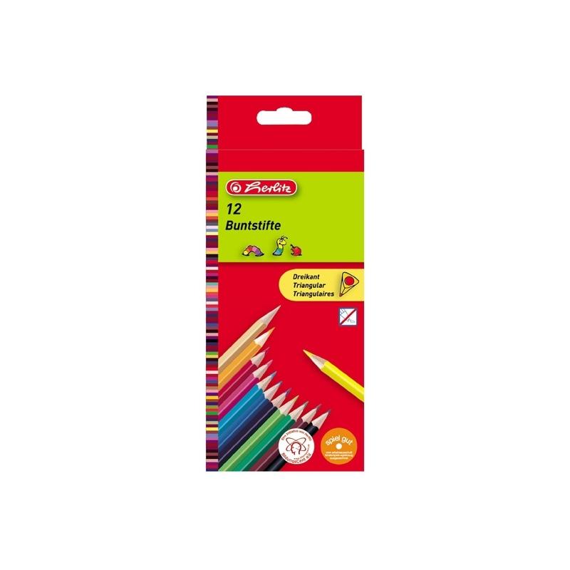 Creioane color triunghiular 1|1 set 12 bucati