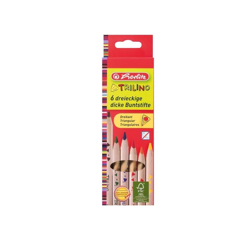 Creioane color triunghiular Trilino 1 1 set 6 bucati
