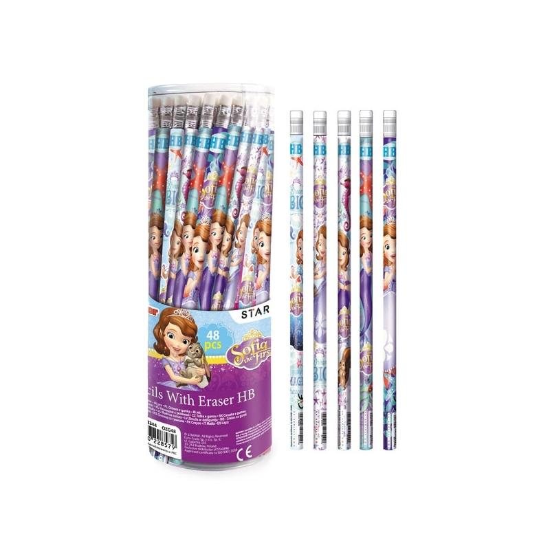 Creion cu guma - Sofia 48 buc/set - STARPAK