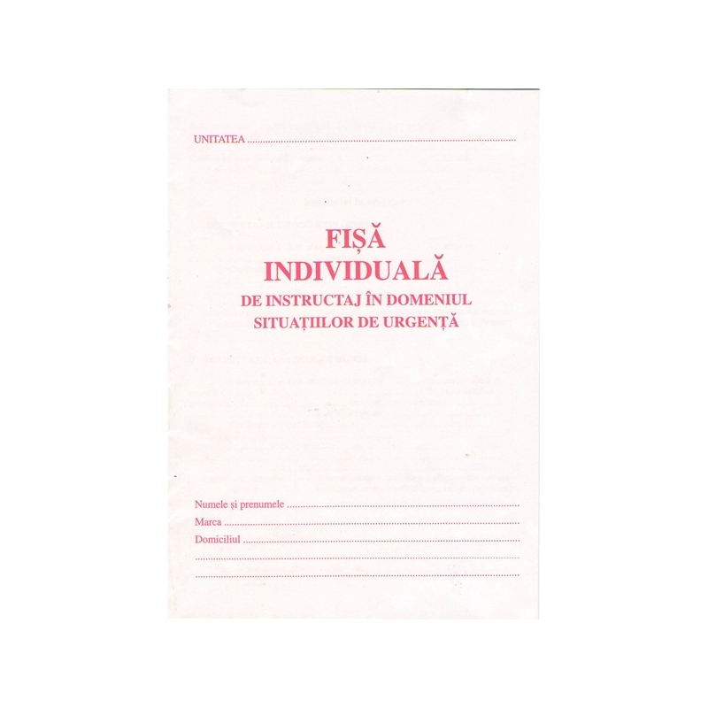 Fisa individuala PSI A5