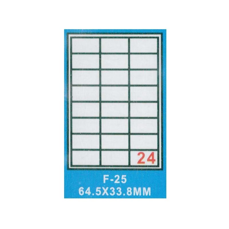 Hartie autoadeziva A4 100 coli - 64.5x33.8mm