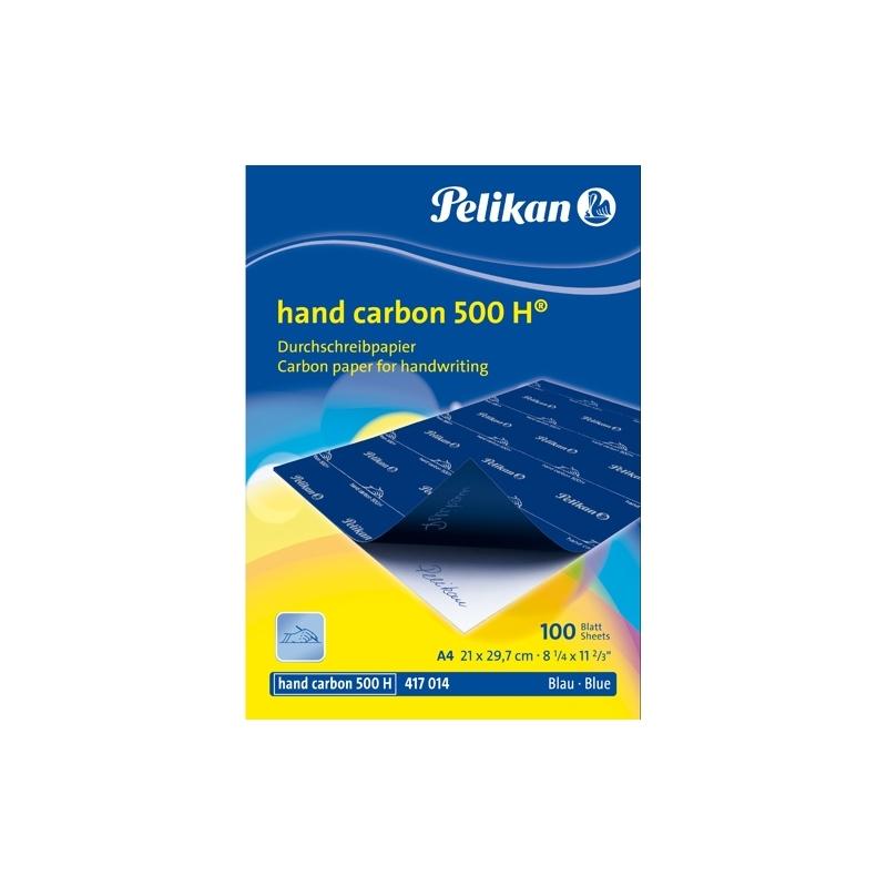 Indigo manual 500H DIN A4 100 coli culoare albastra