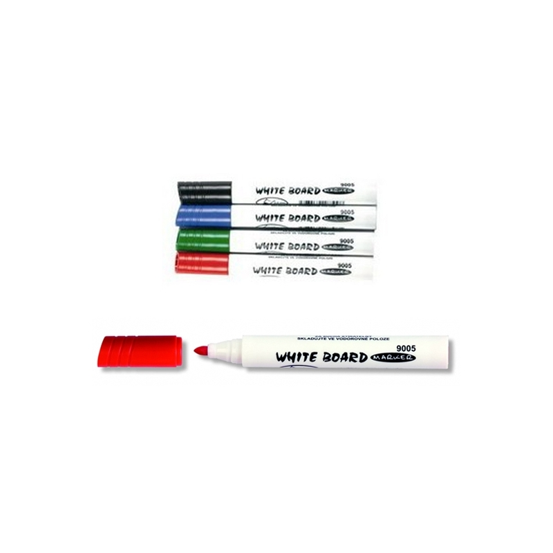 Marker whiteboard varf 2,5 mm rosu - Koh-I-Noor