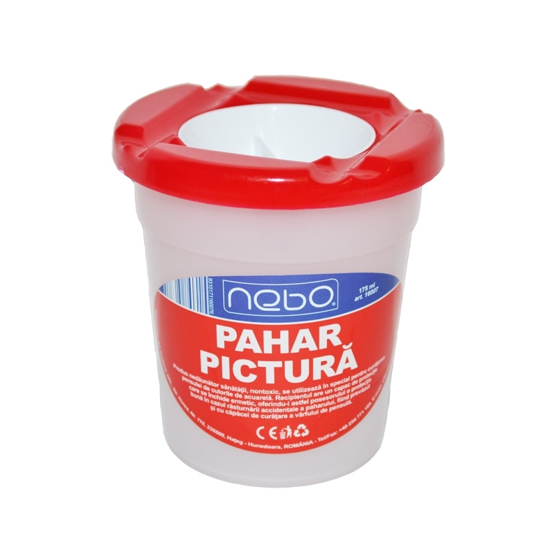 Pahar pictura mare cu capac - NEBO