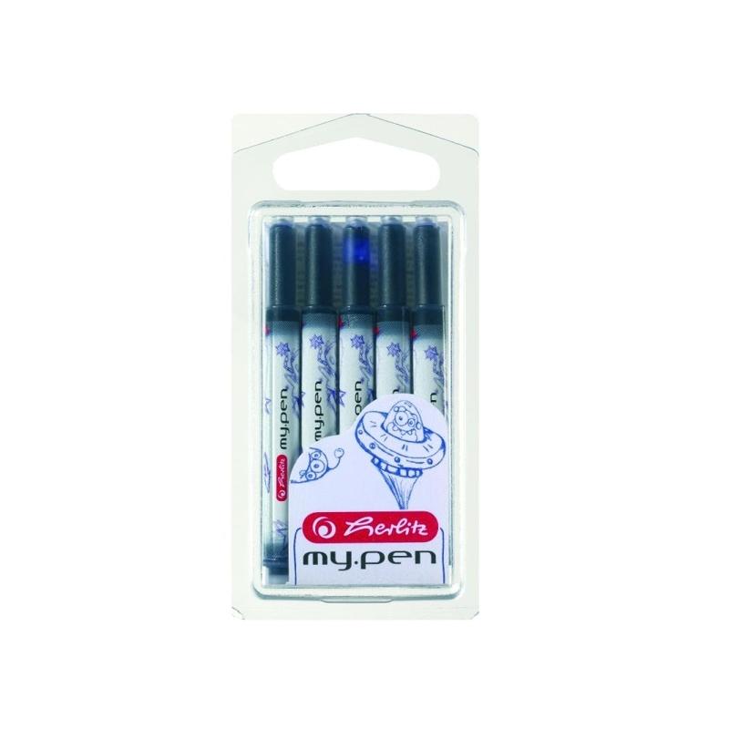 Patroane My.Pen albastre set 5 bucati
