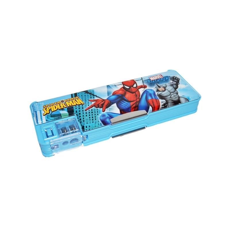 "Penar cu magnet 2 compartimente ""Spiderman""+ascutitoare"