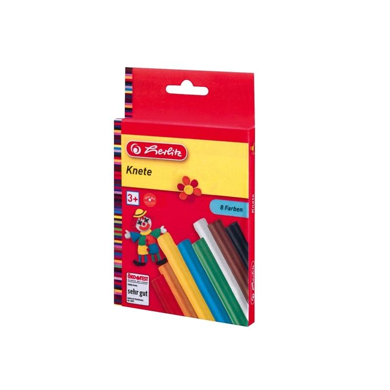 Plastilina Herlitz set 8 culori de carton suspendabila