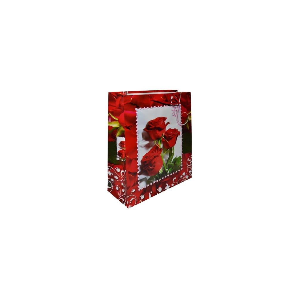 Punga cadou cu flori 43x55x15 cm