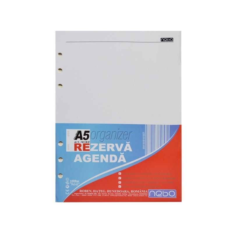 Rezerva Agenda Organizer A5 100 file - NEBO