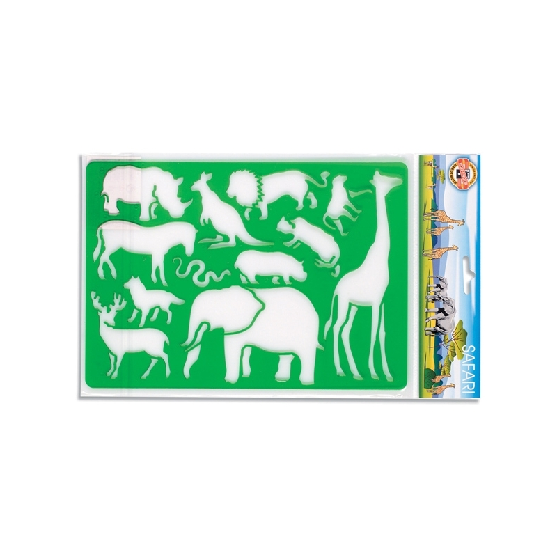 Sablon animale safari, 26,5x18,5 cm - Koh-I-Noor
