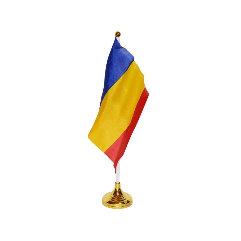 Steag birou, cu suport, Romania, 15x21 cm
