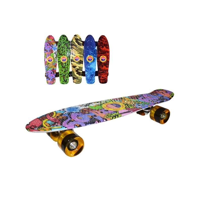 Placa skateboard, roti silicon, Grafitti