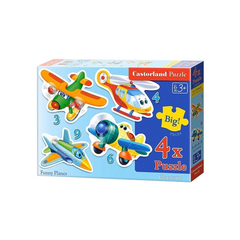 Puzzle 4 in 1 mic - Castorland