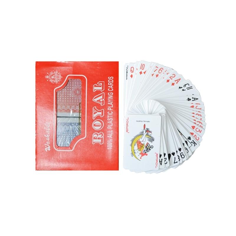 Carti de joc, din plastic, Royal - 2 set/cutie