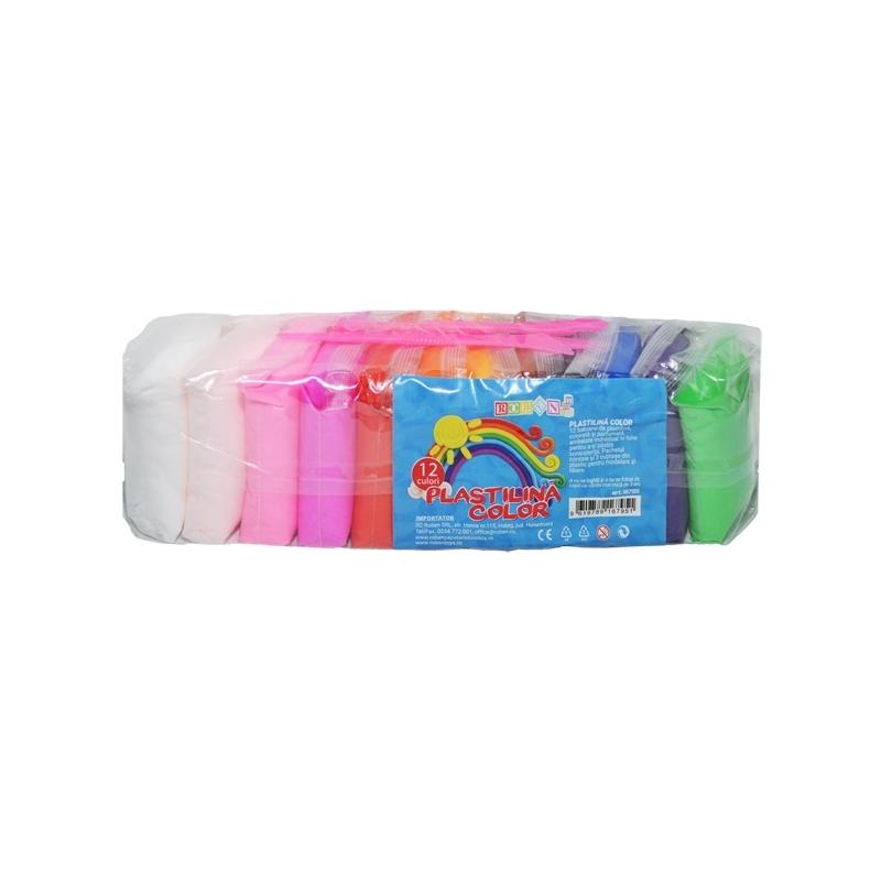 Plastilina modelaj 12 culori/set - ROBENTOYS