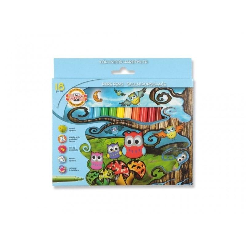 Carioca 18 culori Owls - Koh-I-Noor