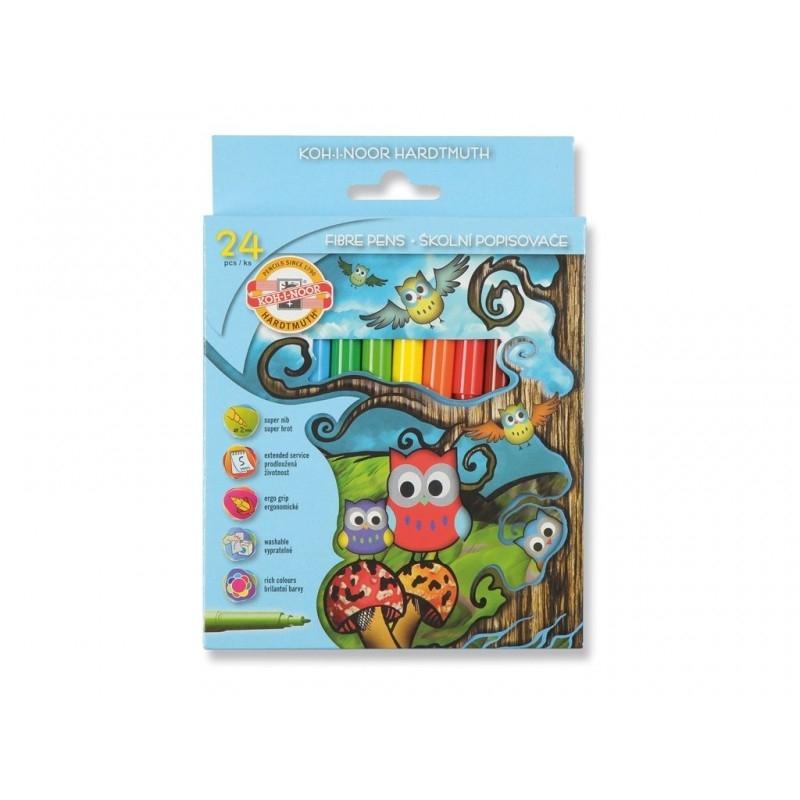 Carioca 24 culori Owls - Koh-I-Noor