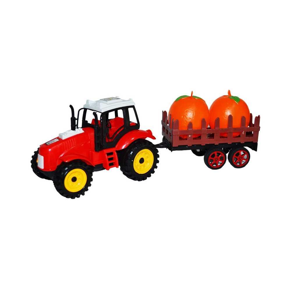 Tractor cu remorca + legume/fructe