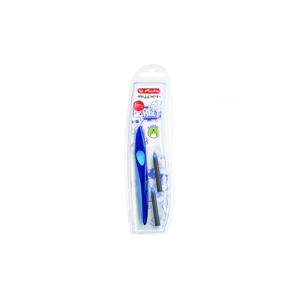 Roller My.Pen albastru inchis/albastru deschis - blister