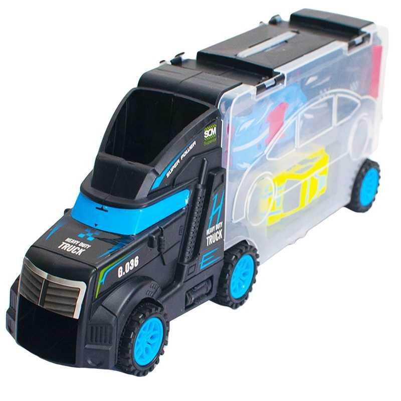 Masina demontabila + accesorii, in cutie-camion