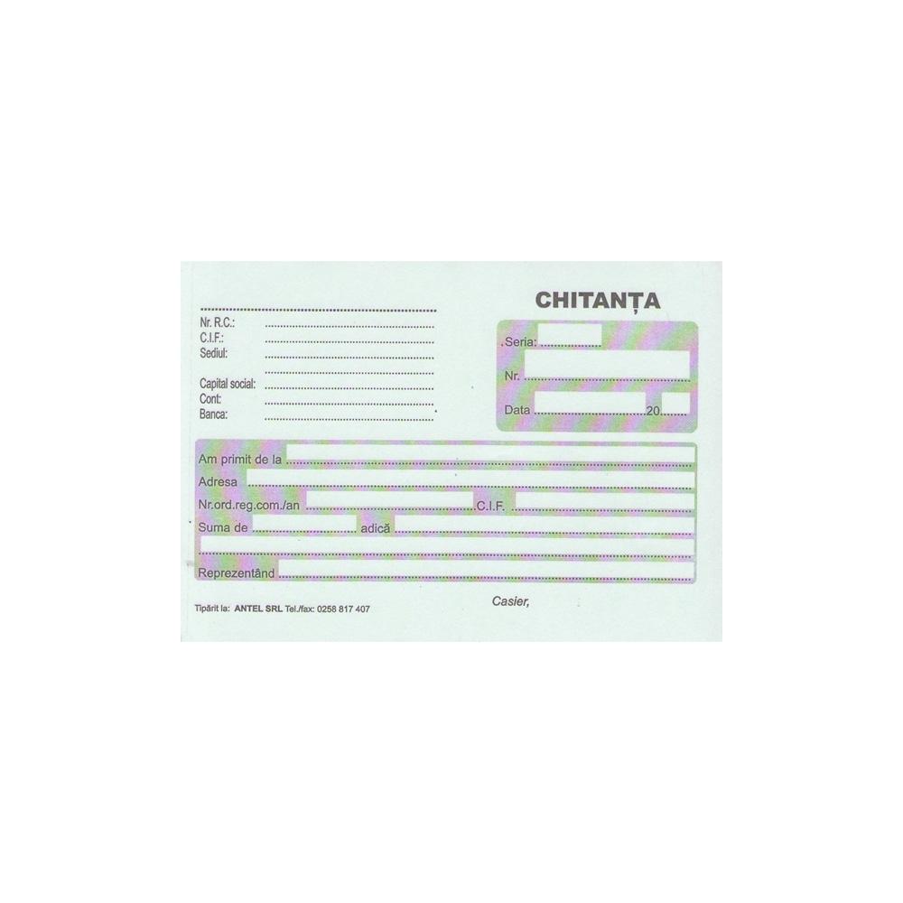 Chitantier A6 autocopiativ, 2 exemplare, 100 file