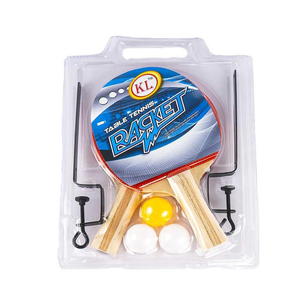 Palete ping pong+3 mingi+fileu, 1 set/blister