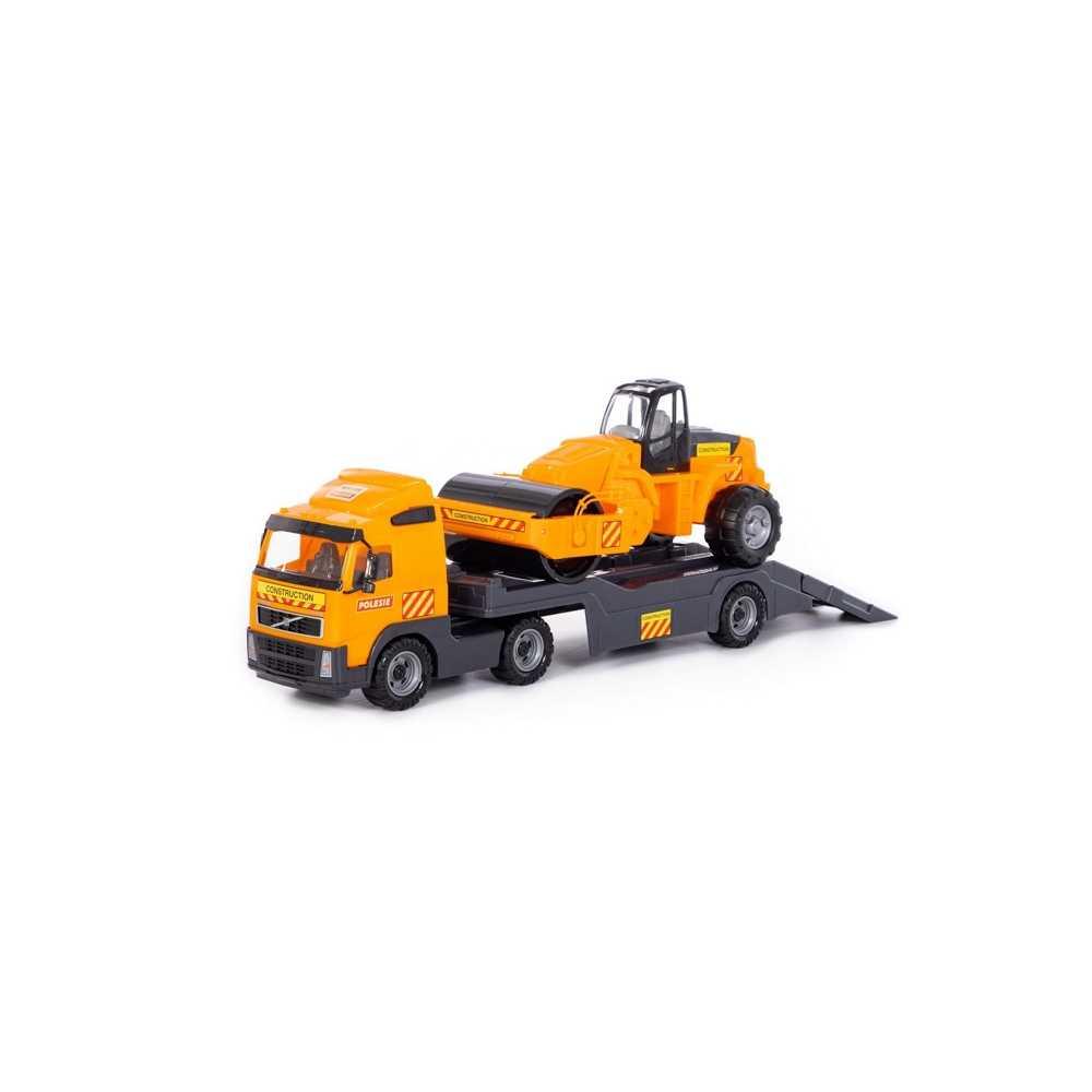 Trailer+cilindru asfalt - Volvo PowerTruck, 89x19x25 cm, Wader