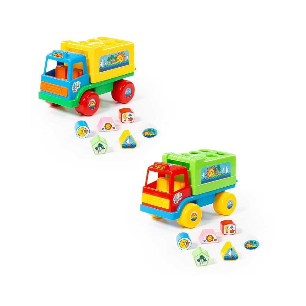 Camion educativ+forme, 26x16x17 cm, Cavallino