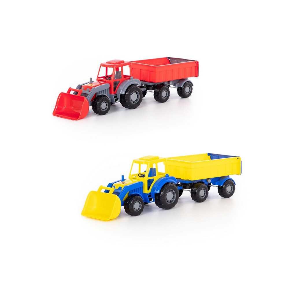 Tractor cu remorca si incarcator - Altay, 67x17x18 cm, Polesie