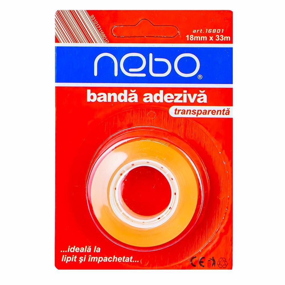 Banda adeziva pe blister 18mmx33m - NEBO