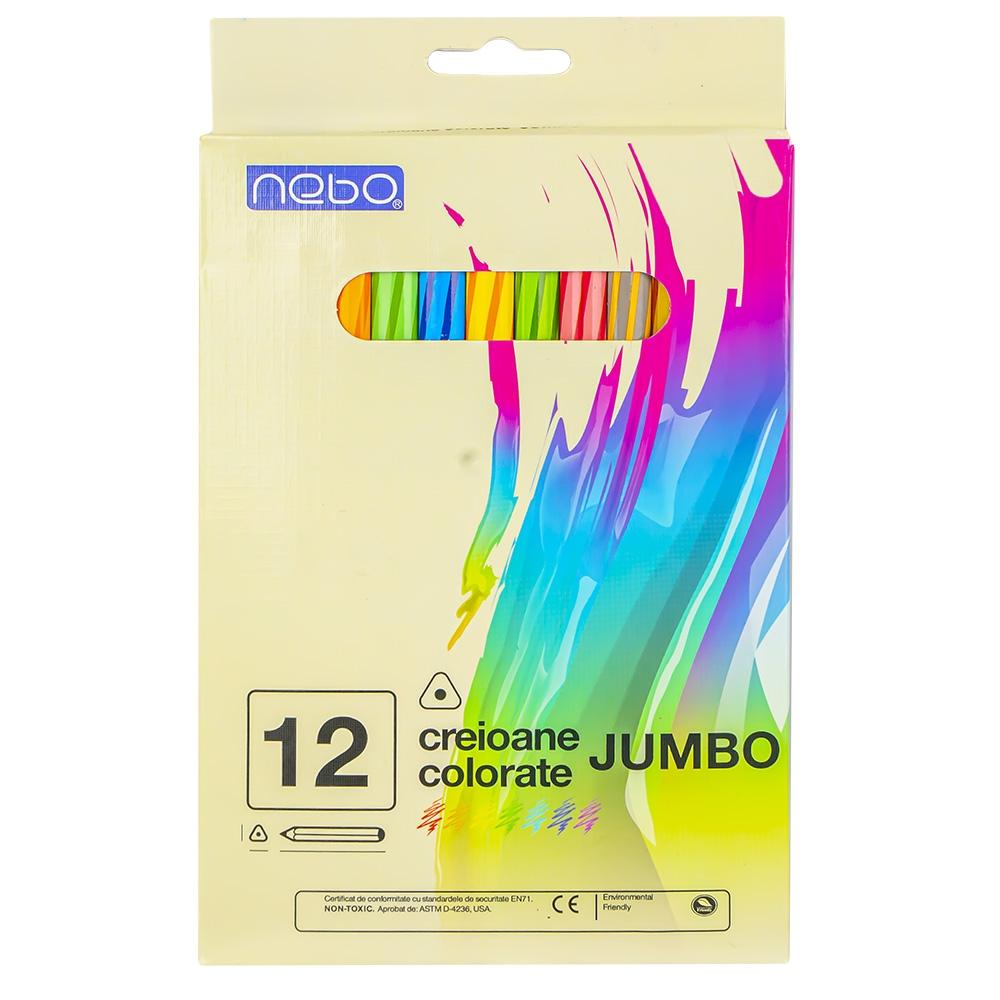 Creioane color jumbo 12 buc|set - NEBO